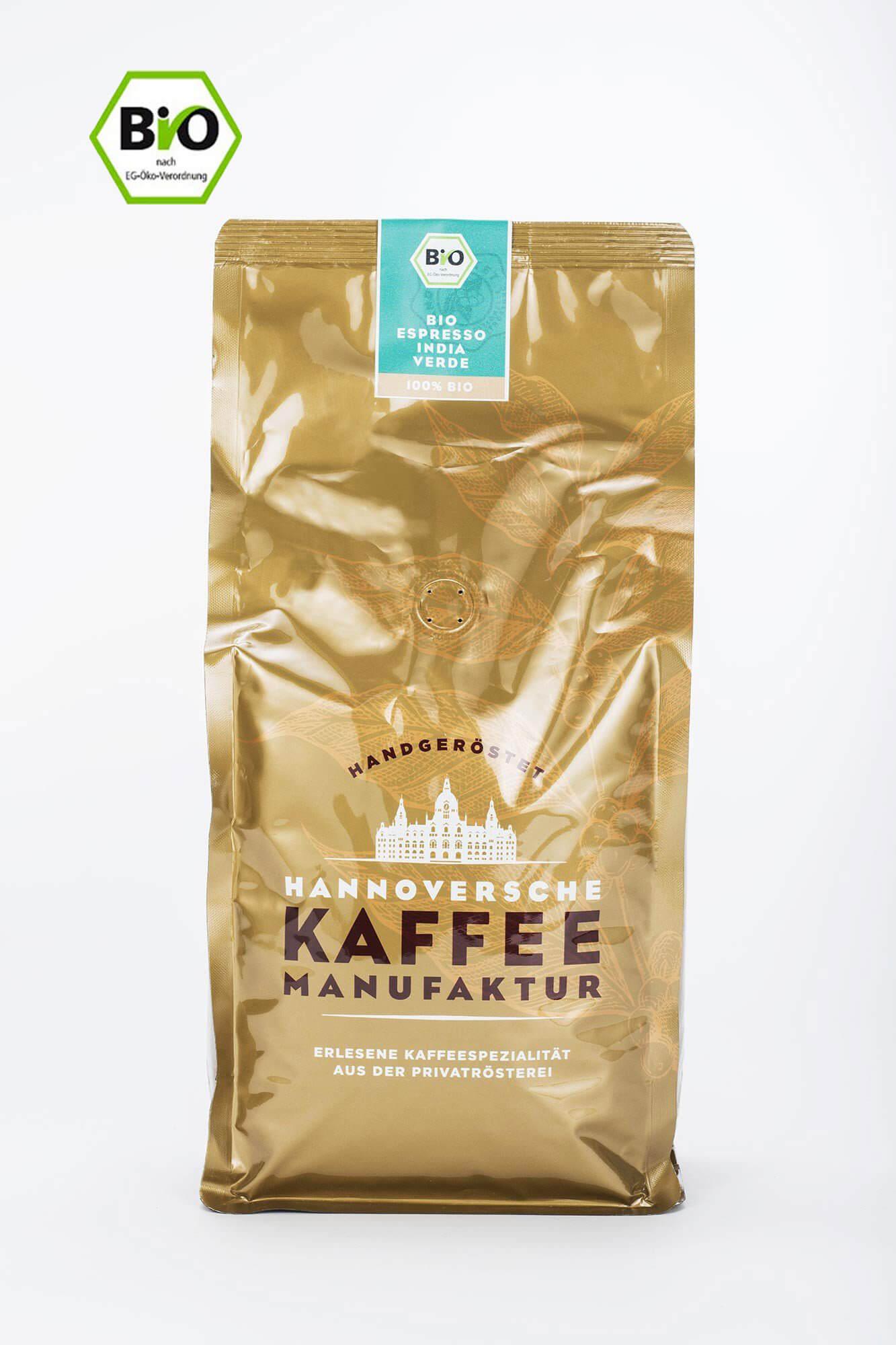 hannoversche kaffee manufaktur bio espresso india verde online kaufen roast market. Black Bedroom Furniture Sets. Home Design Ideas