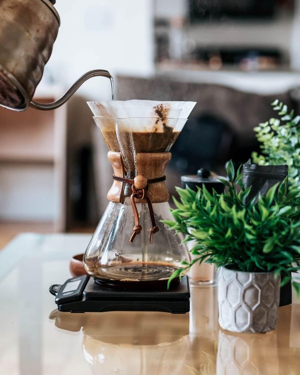 Kaffeezubereitung mit Chemex