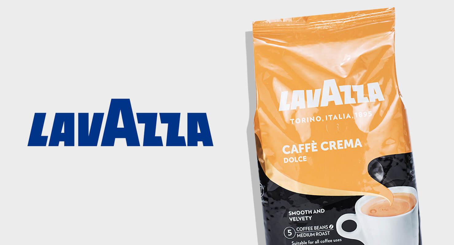 Lavazza Logo neben Packung