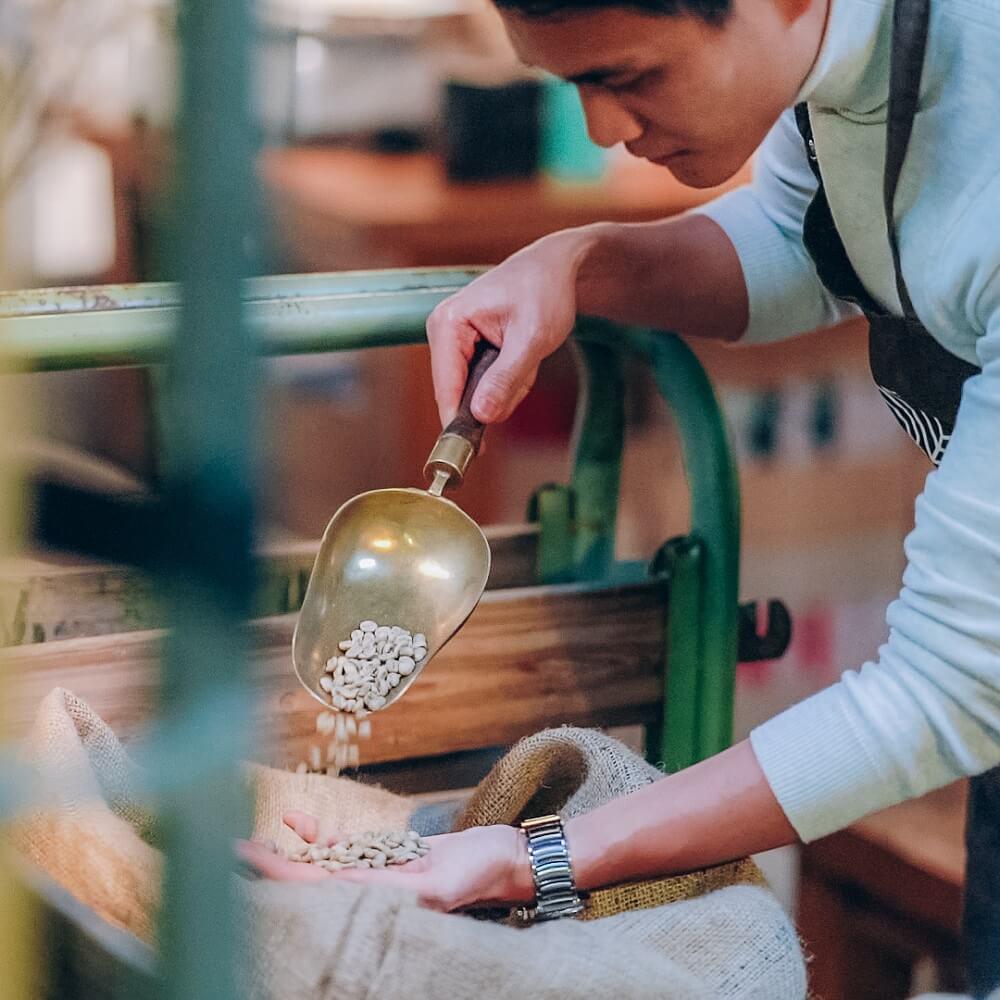 84 Coffee Bohnen Qualitätskontrolle