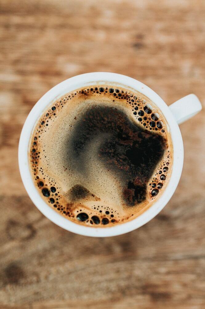 frisch gebrühter Filterkaffee