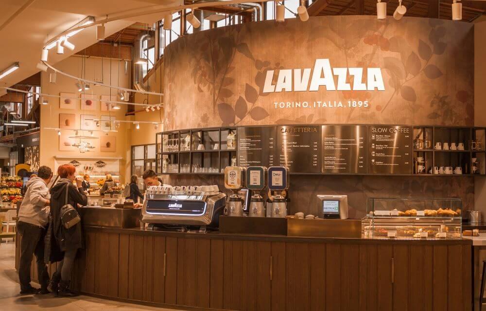 Verkauf von Lavazza Kaffee