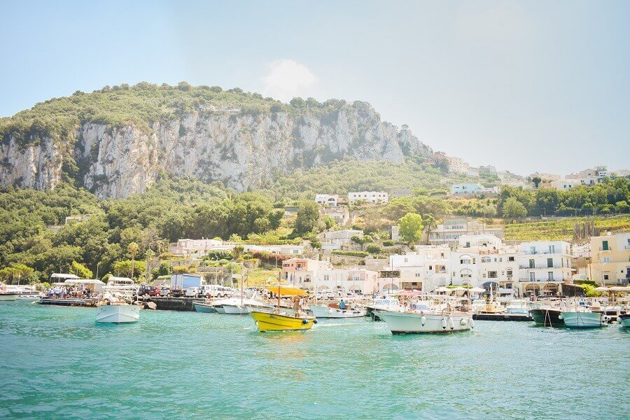 Küste in Neapel, Italien