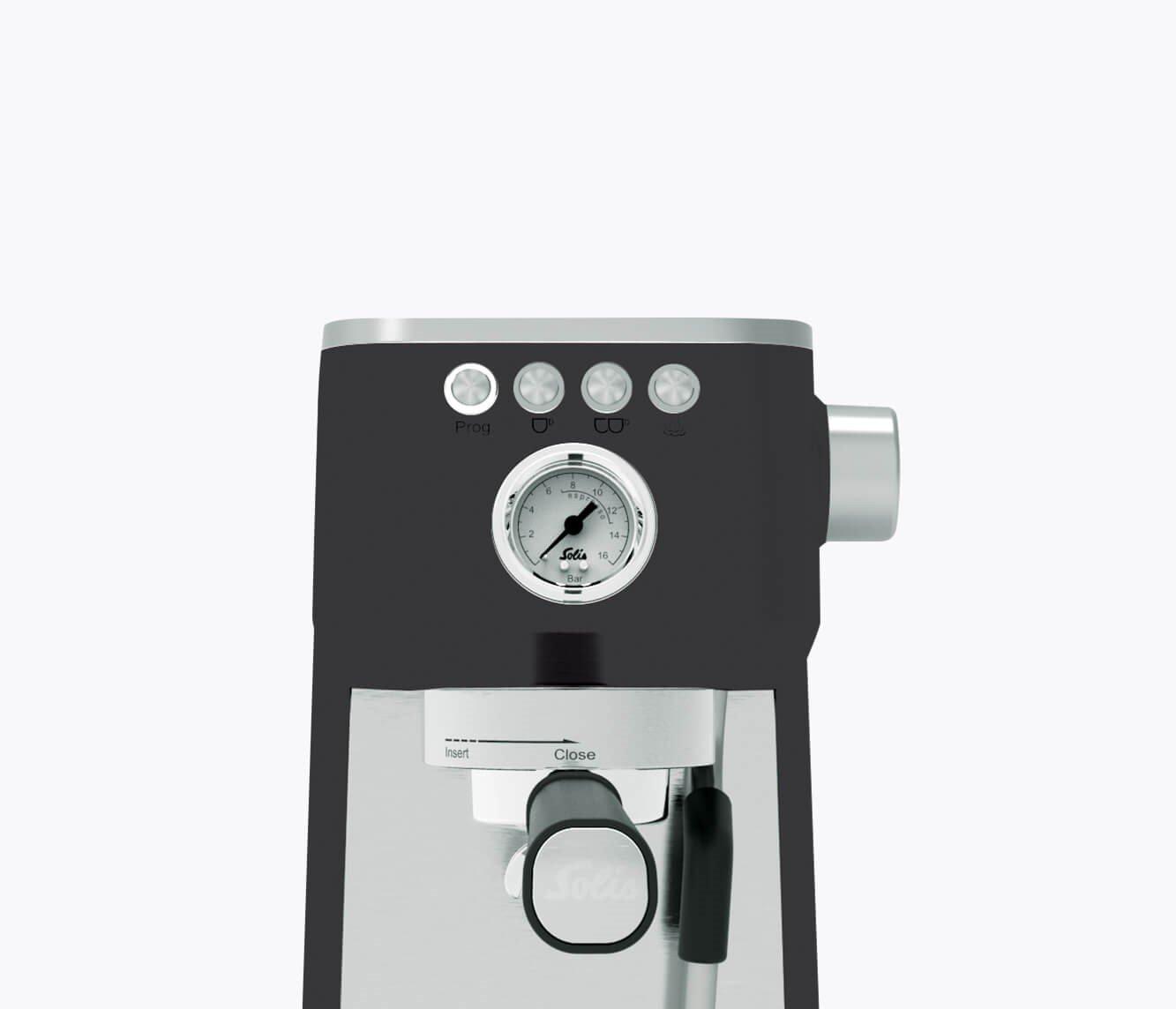 Solis Siebträgermaschine Barista Perfetta Plus, Schwarz Typ 1170