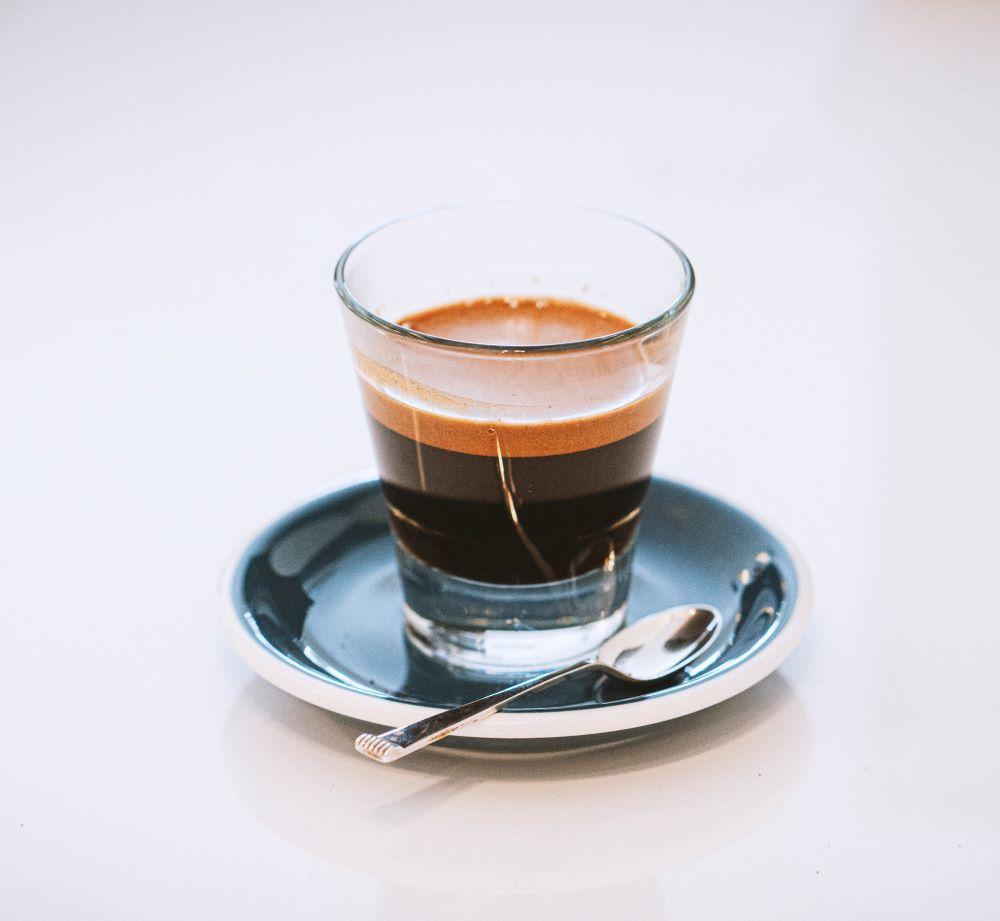 Tre Forze Espresso in Glastasse