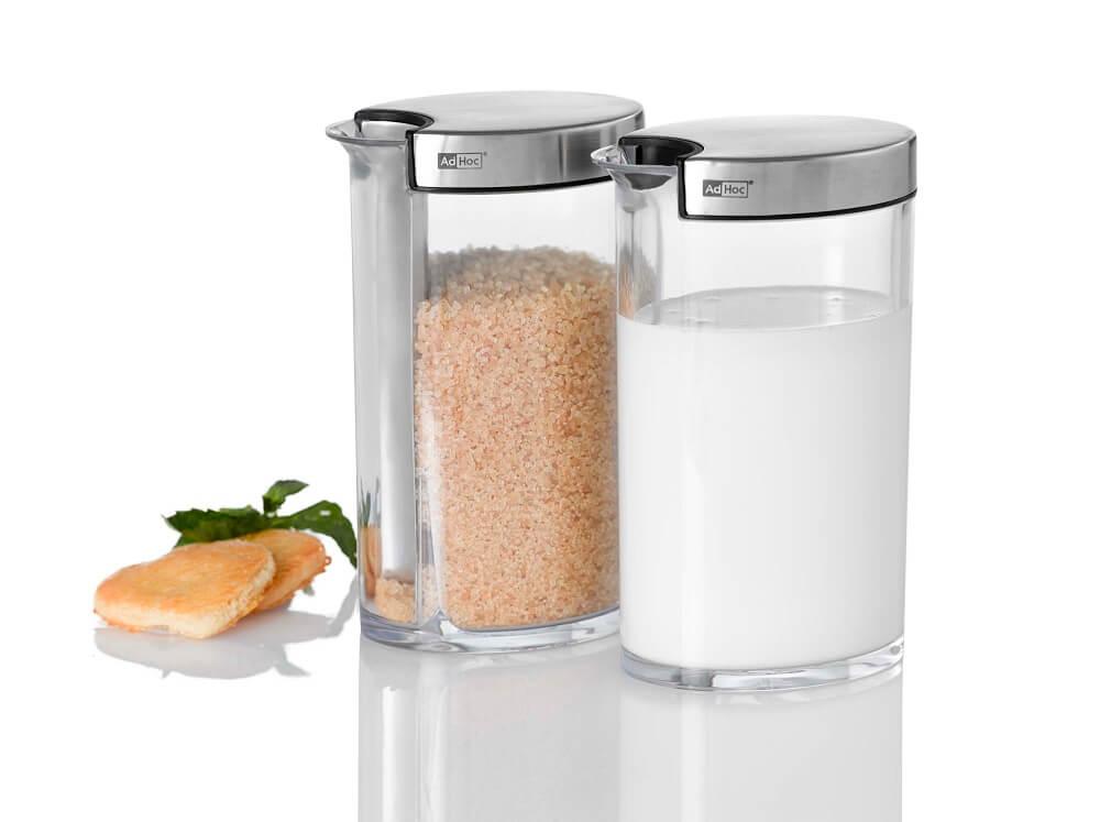 AdHoc Zuckerportionierer SWEETY und Milchgießer MILKY