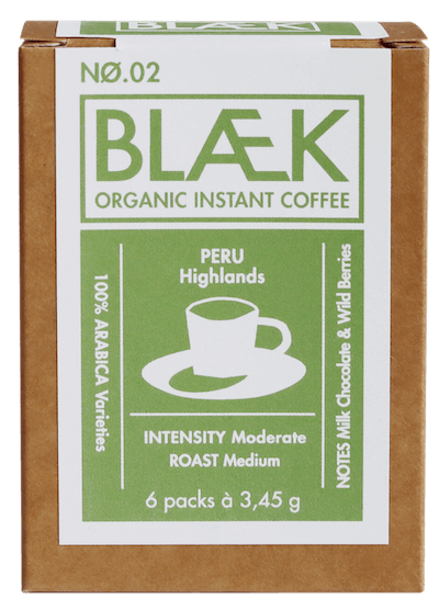 Blaek Coffee Bio No. 2 Peru Box Instantkaffee