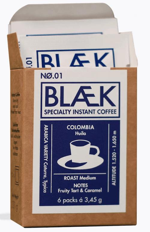 BLAEK Coffee UG Instantkaffee in Sachets No. 1 Kolumbien