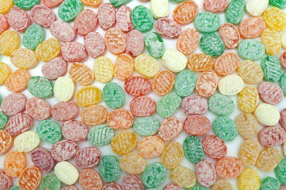 Bunte Bonbon Auswahl