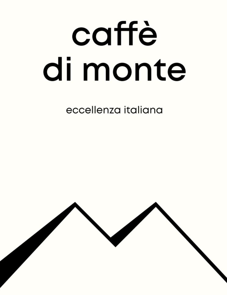 Caffè di Monte Logo mit Bergmotiv