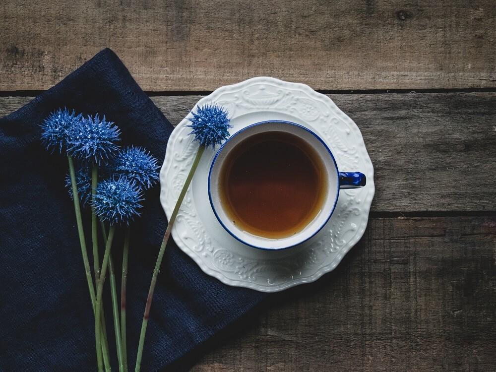 Tasse Tee als Entspannung