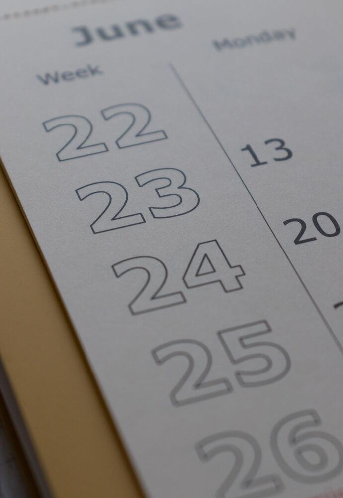 Kalender zum Eintragen