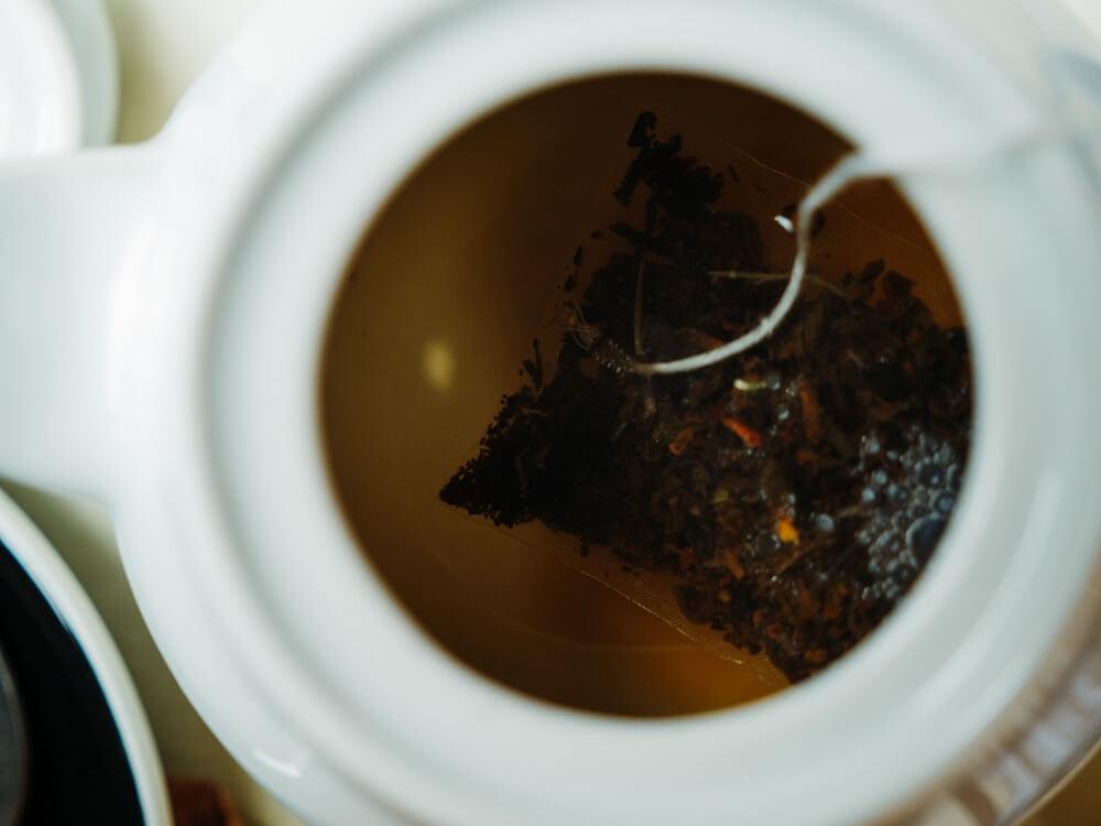 Leckerer Tee aus dem Teebeutel