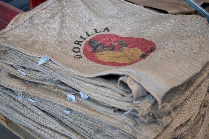 Gorilla Jutesäcke für Kaffeebohnen