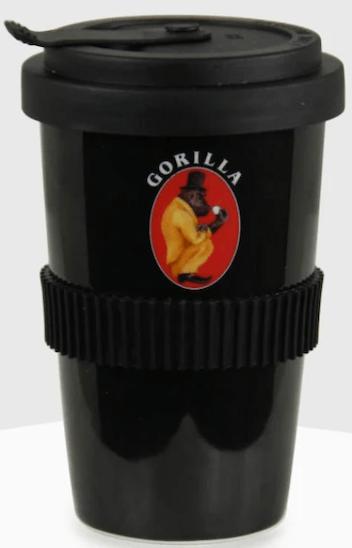Joerges Gorilla To Go Kaffeebecher schwarz
