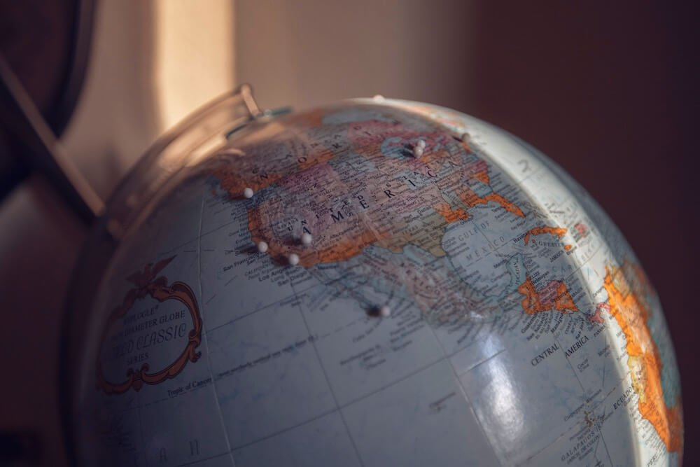 Reise um den Globus