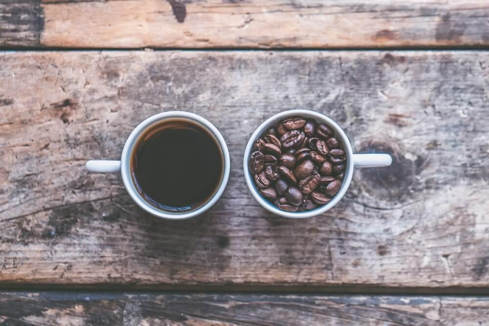 Kaffee mit dunkler Röstung