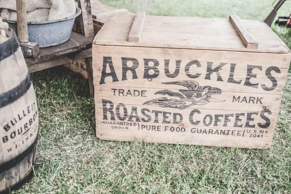 Kaffeebohnen im Röstprozess