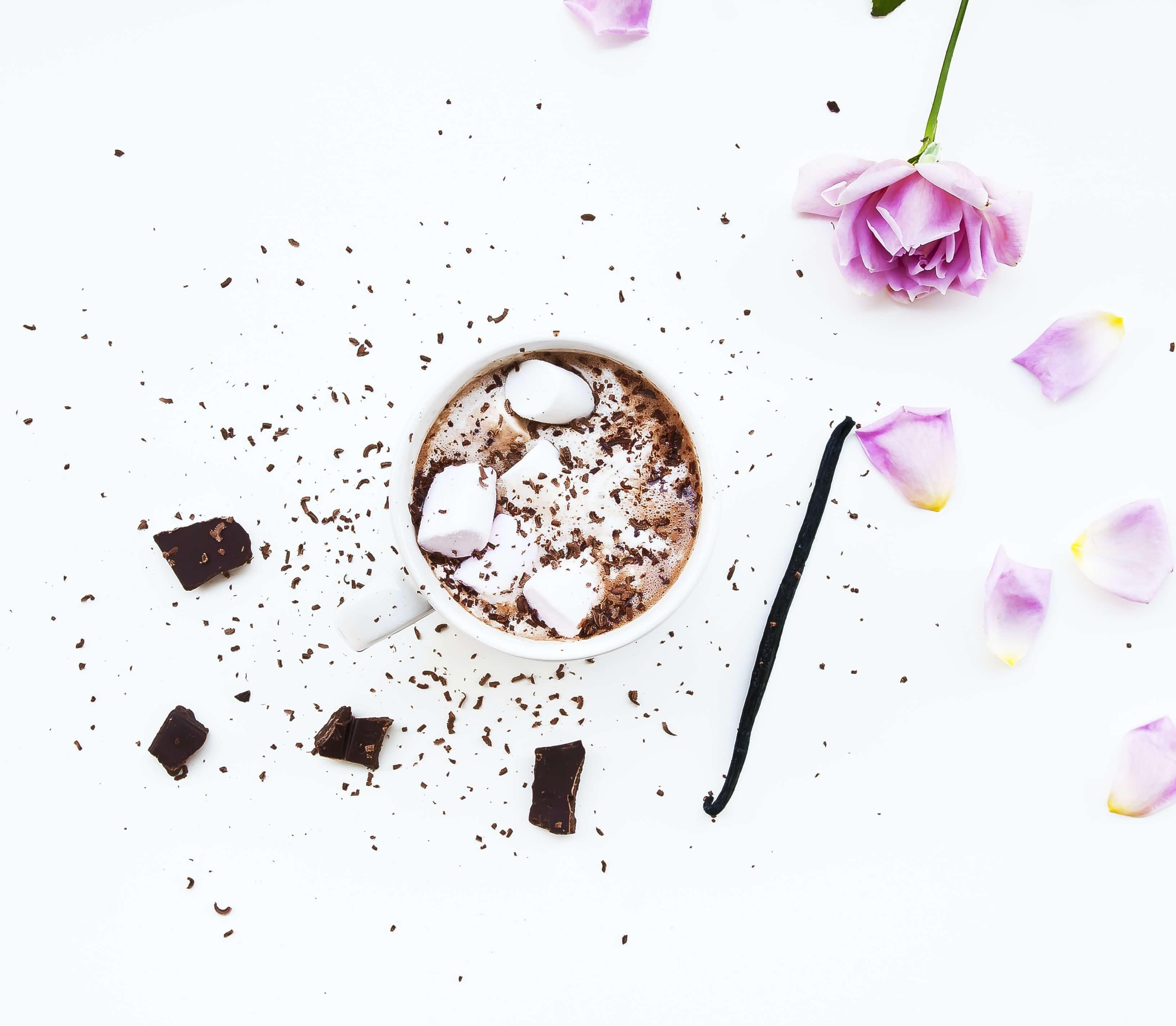 Kaffee mit Vanillegeschmack