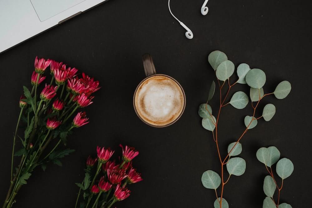 Kaffee und Pflanzen