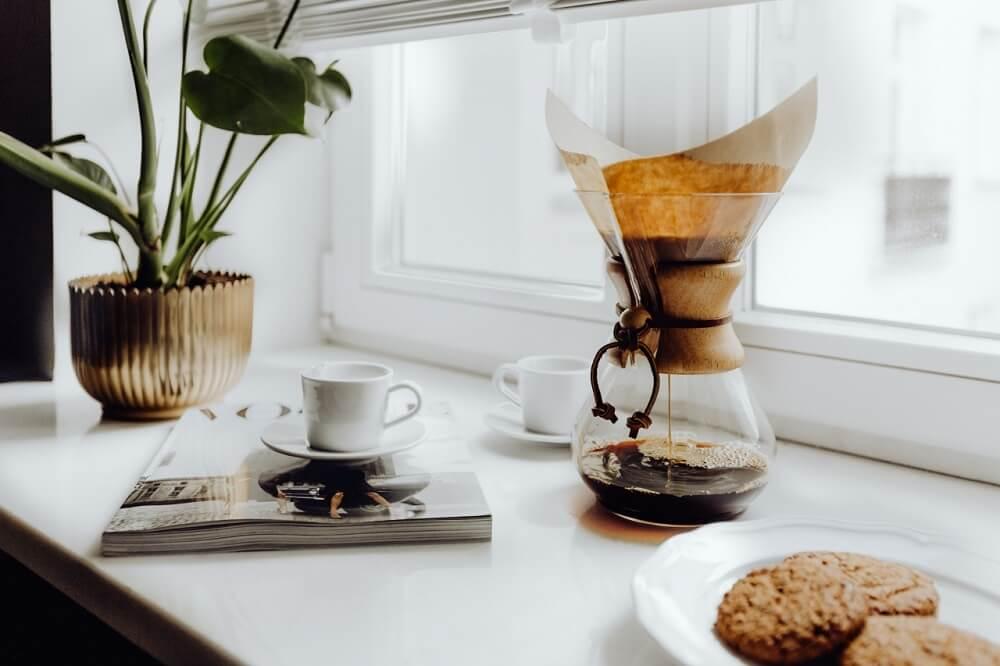 Chemex Kaffeekaraffe und Tasse