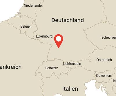 Sitz von Hagen Kaffee auf Landkarte markiert
