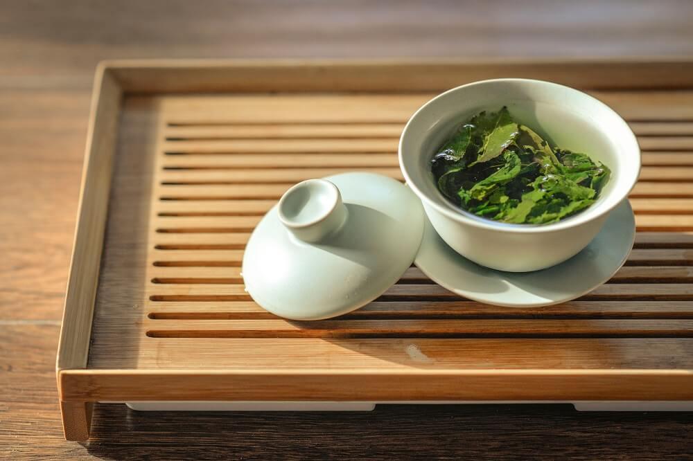 Lebensbaum Tee in Teetasse