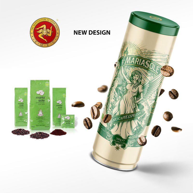 MARIASOLE BIO Caffè Espresso altes und neues Design Rebranding