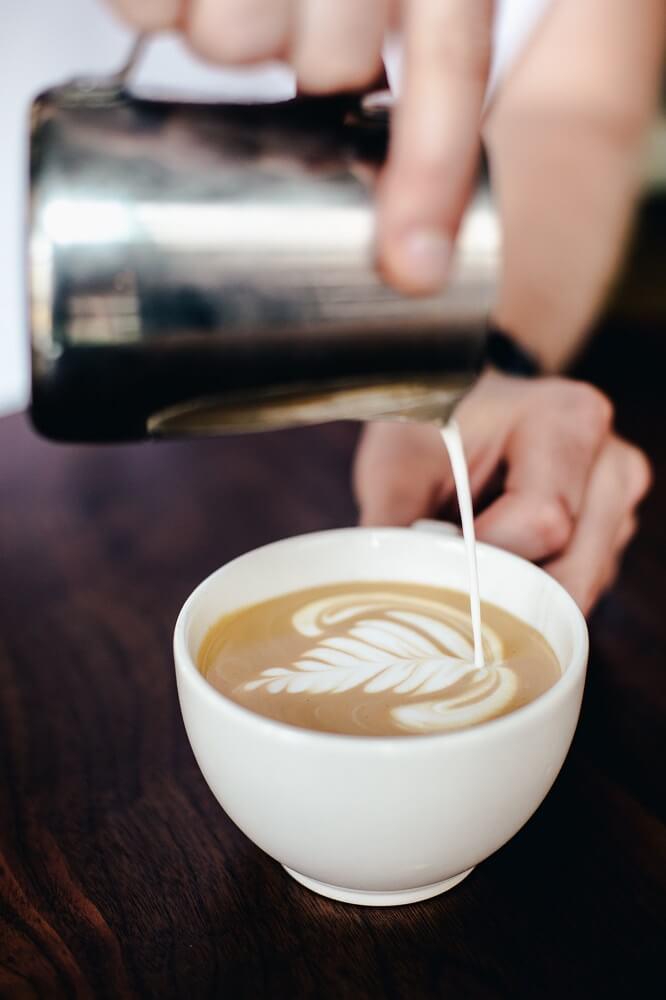 Cappuccino Milchschaum Latte Art