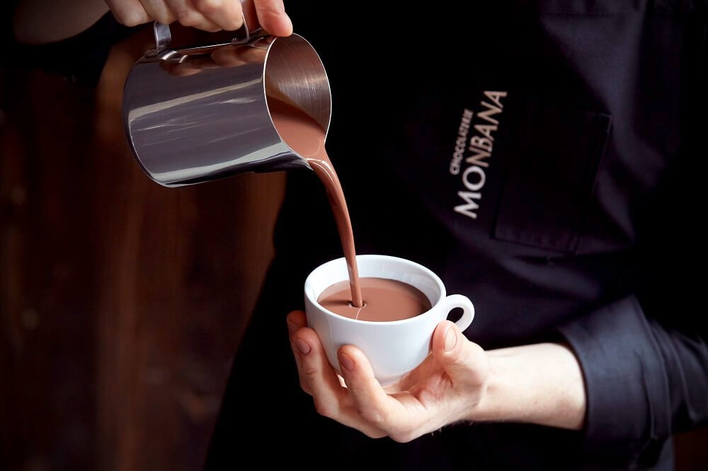 Monbana heiße Schokolade Zubereitung