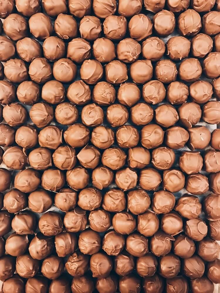 Mozartkugeln aus Schokolade