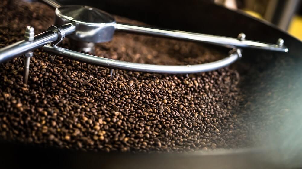 Kaffeebohnen Röstungsprozess