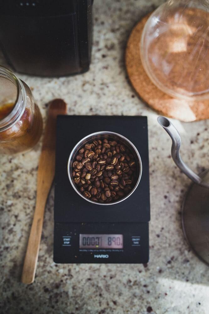 Kaffeewaage zum Portionieren