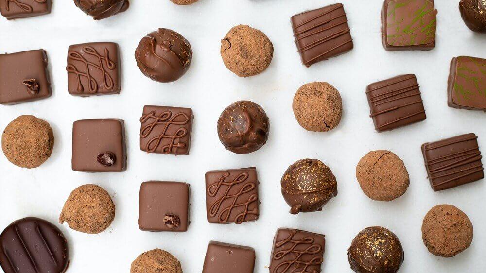 Klassische Schokoladen Pralinen