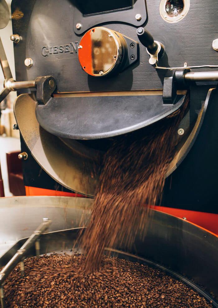 Rösttrommel schonende Röstung der Kaffeebohnen