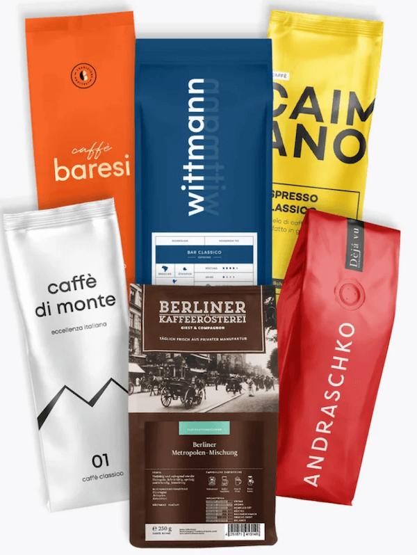 roastmarket Kaffee für Siebträger TESTSIEGER Probierpaket