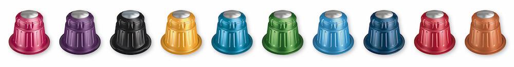 Verschiedene Dallmayr Kapseln Capsa in bunten Farben
