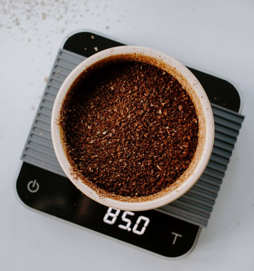 Gemahlener Kaffee für den Kaffeefilter