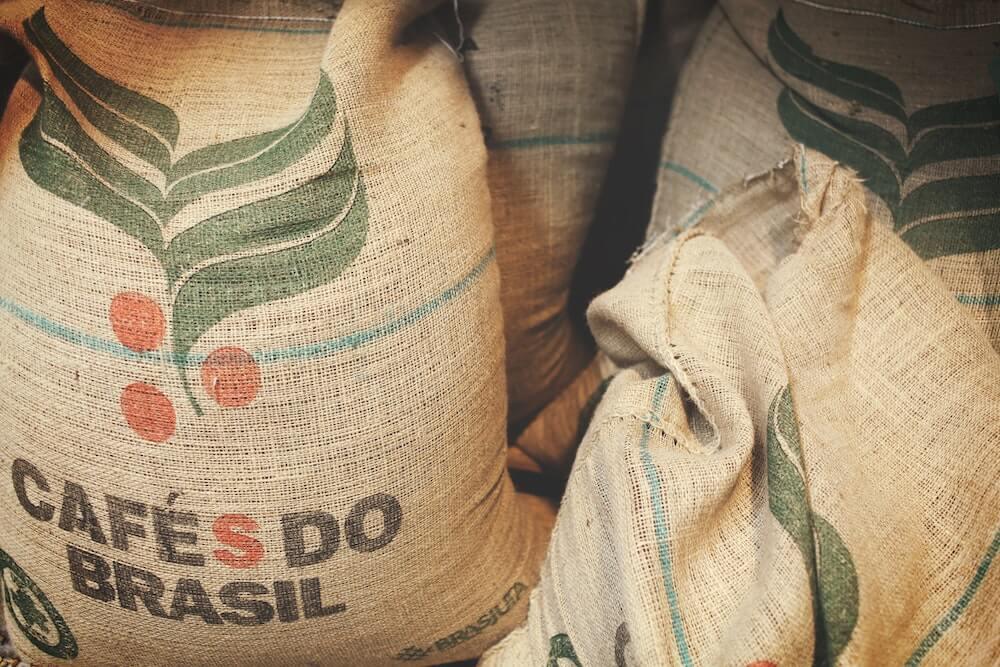 Kaffeesäcke aus Brasilien