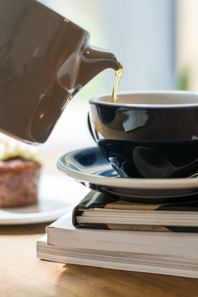Praktische Teekanne
