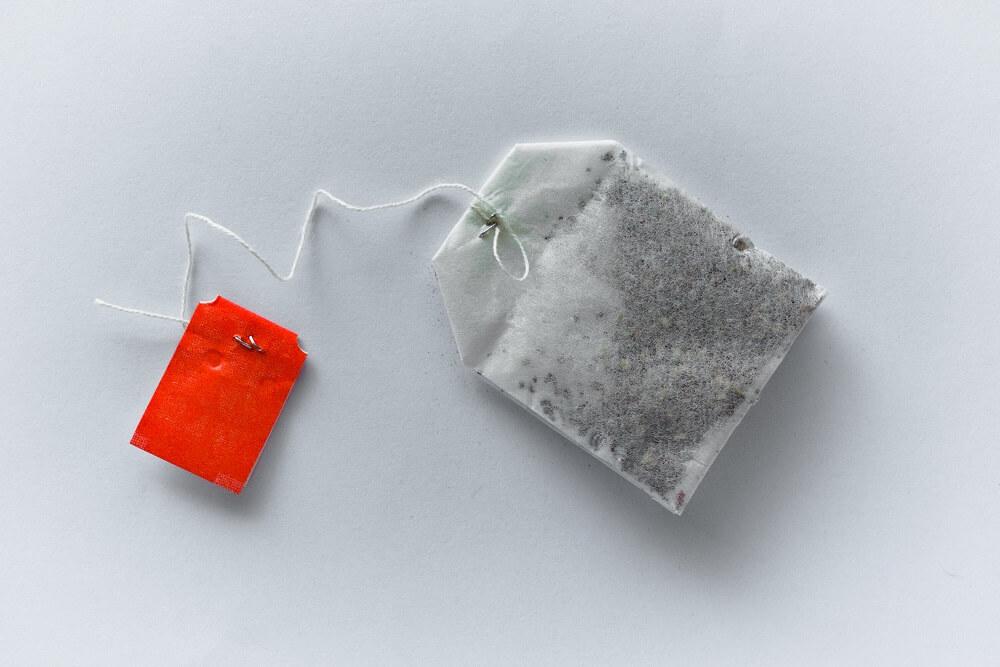 Teebeutel aus gebleichtem Papier