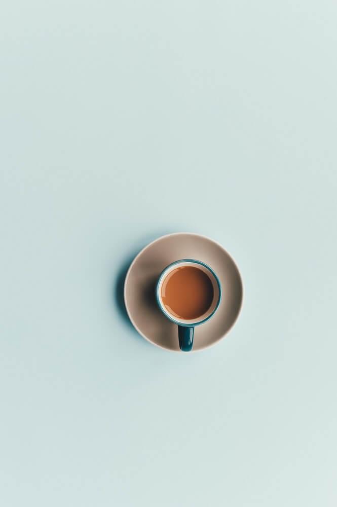 Milder Espresso in Tasse